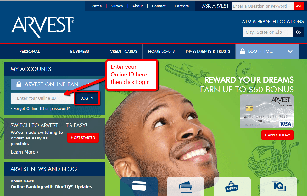 Arvest Personal Banking Online