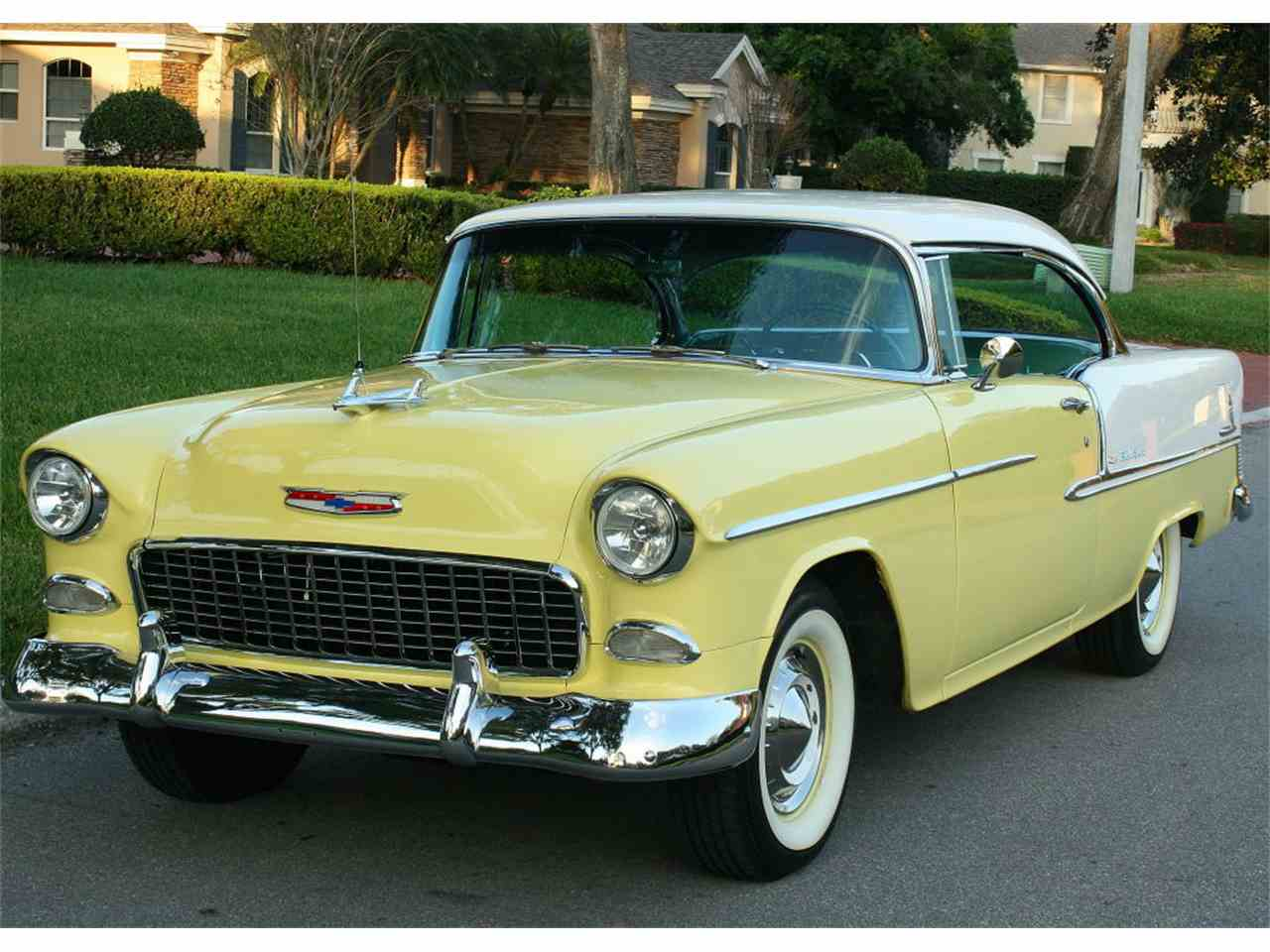 1957 Chevy Bel Air Red And White 2 Door Hardtop