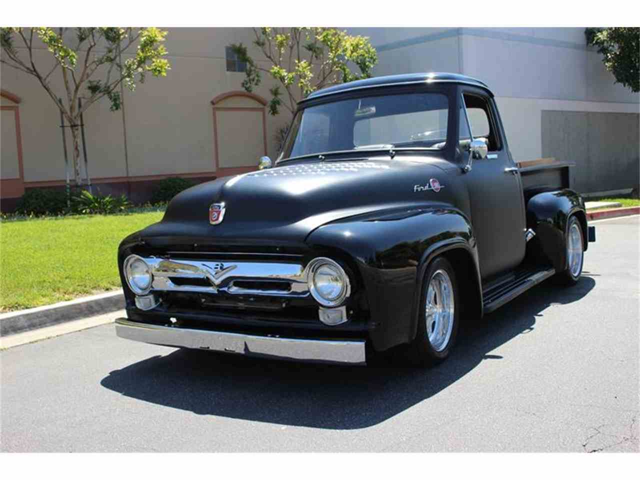 1955 Ford F100 Flat Black Painted