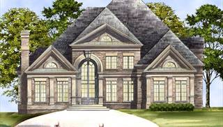 Colonial Style House Plans   One or Two Story Colonial House Plans Colonial House Plans with Daylight Basement by DFD House Plans