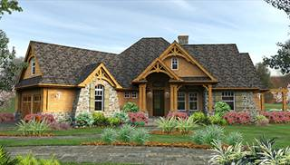 Cottage House Plans   Direct from the Designers       Empty Nester House Plans by DFD House Plans