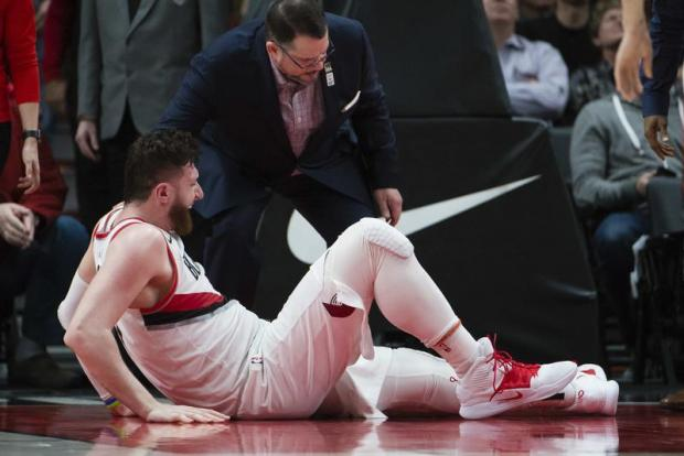 Watch: Nurkic horror injury overshadows Blazers clincher
