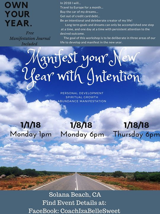 Manifest your New Year with Intention at Solana Beach  CA  Solana Beach Manifest your New Year with Intention