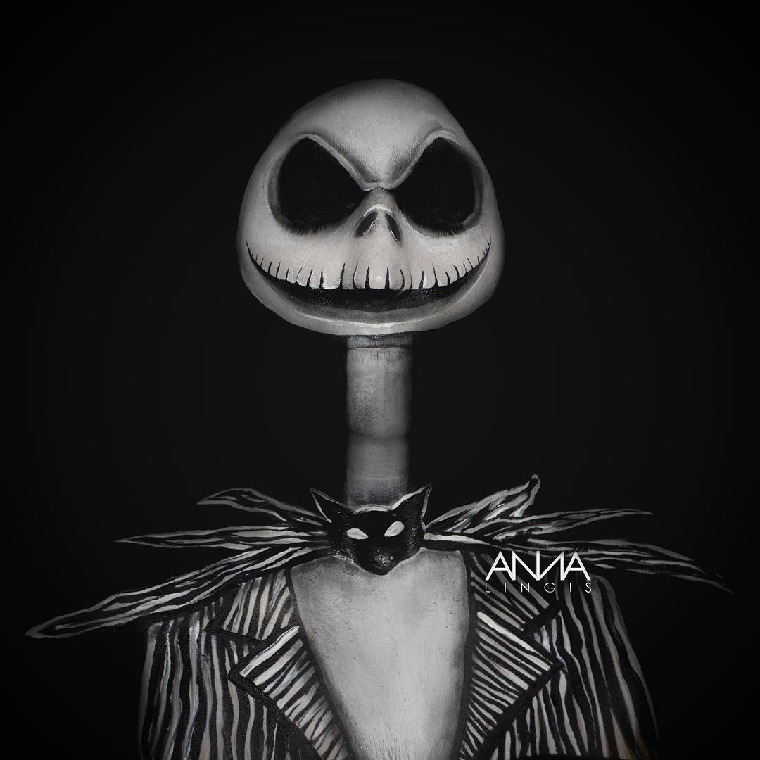 Nightmare Before Christmas Jack Skellington Makeup ...
