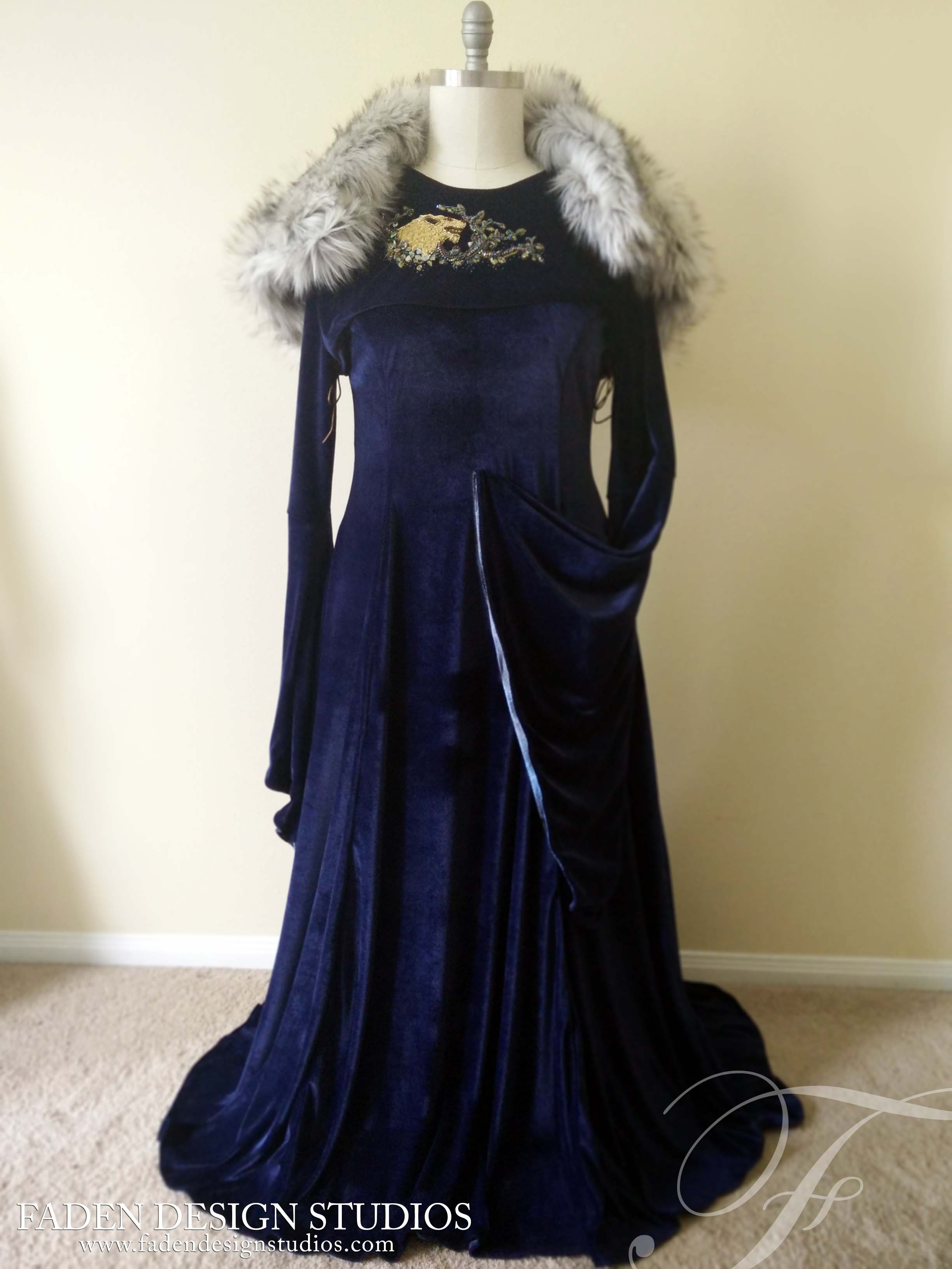 Sansa Stark Direwolf Gown With Intricate Beading