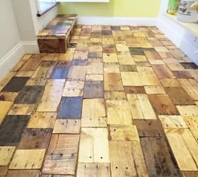 Redoing a Floor With Free Pallet Wood   Hometalk pallet floors redo flooring  diy  flooring  hardwood floors  pallet   repurposing upcycling