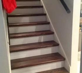 From Carpet To Wood Stairs Redo Cheater Version Hometalk | Cost Of Carpet For Stairs And Landing | Sisal Stair Runner | Handrail | Wood | Carpet Runner | Hardwood