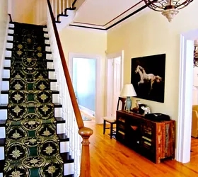How To Create A Custom Stairway Runner For Less Hometalk   Custom Stair Runners Near Me   Flooring   Basement Stairs   Staircase Makeover   Animal Print   Staircase Remodel