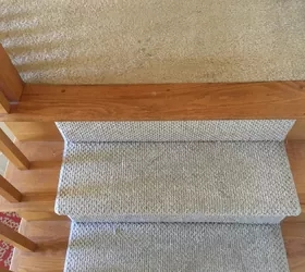 From Carpet To Wood Stairs Redo Cheater Version Hometalk | Carpet And Hardwood Stairs | Wooden | Before And After | Wall To Wall Carpet | Grey | Design