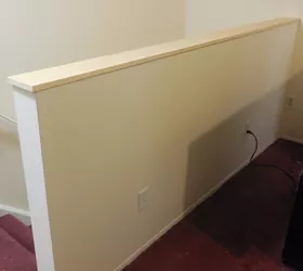 Half Wall At Top Of Staircase Hometalk   Top Of Stairs Banister   Indoor   Rail   Barn Wood   Residential   Different Color