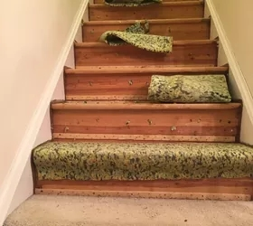 How To Change Stairs From Carpet To Wood Diy Hometalk | Carpet And Hardwood Stairs | Wooden | Before And After | Wall To Wall Carpet | Grey | Design