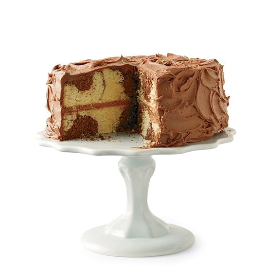 Marble Cake With Chocolate Frosting Recipe Grace Parisi