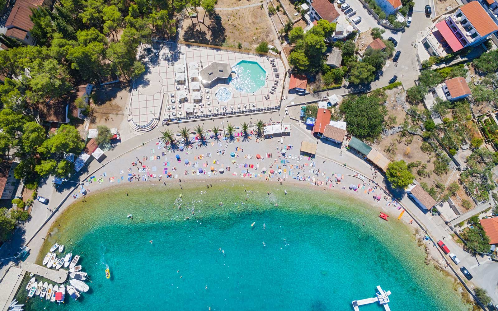 The 50 Best Places to Travel in 2018   Travel   Leisure Aerial view of housing estate and beach at Necujam bay at Solta  Croatia