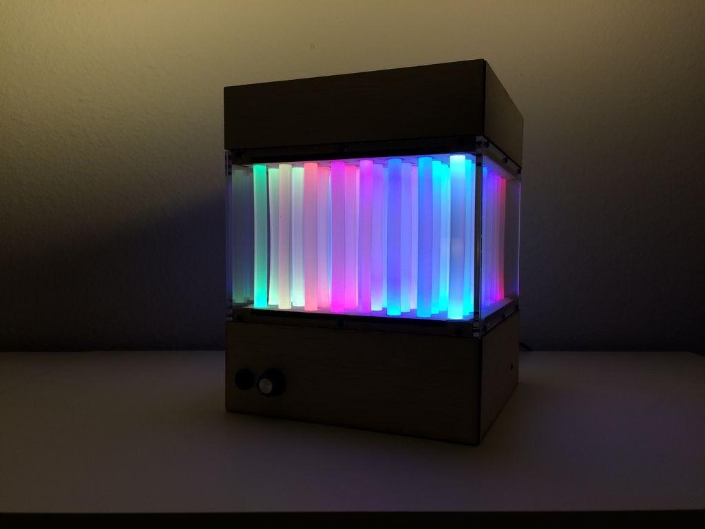 Glue Sticks Turned Into Brilliant Fiber Optic Display