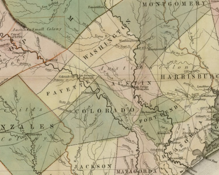 Map of Texas  compiled from surveys on record in the General Land     Map of Texas  compiled from surveys on record in the General Land Office of  the Republic  1839