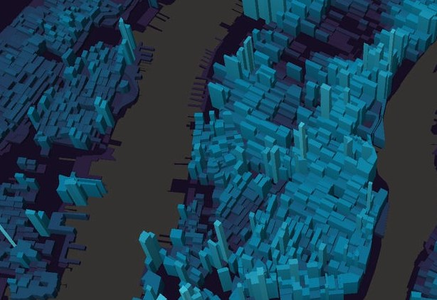 HD Decor Images » Dive into large datasets with 3D shapes in Mapbox GL 3D is uniquely well suited to this dataset because the height of each shape  represents population density  and the volume is proportional to the raw  count