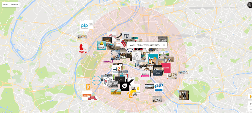 How I  sort of  got around the Google Maps API results limit Web agencies in Paris