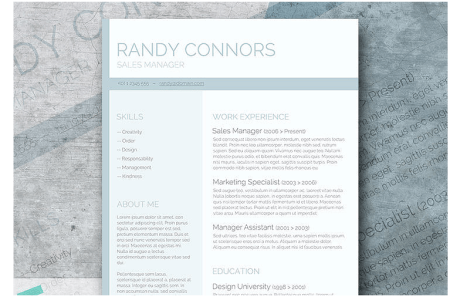 Top 50 Free Resume CV Templates     TemplateMonster com     Medium Washed Out     A Free Pastel Colored Resume Template