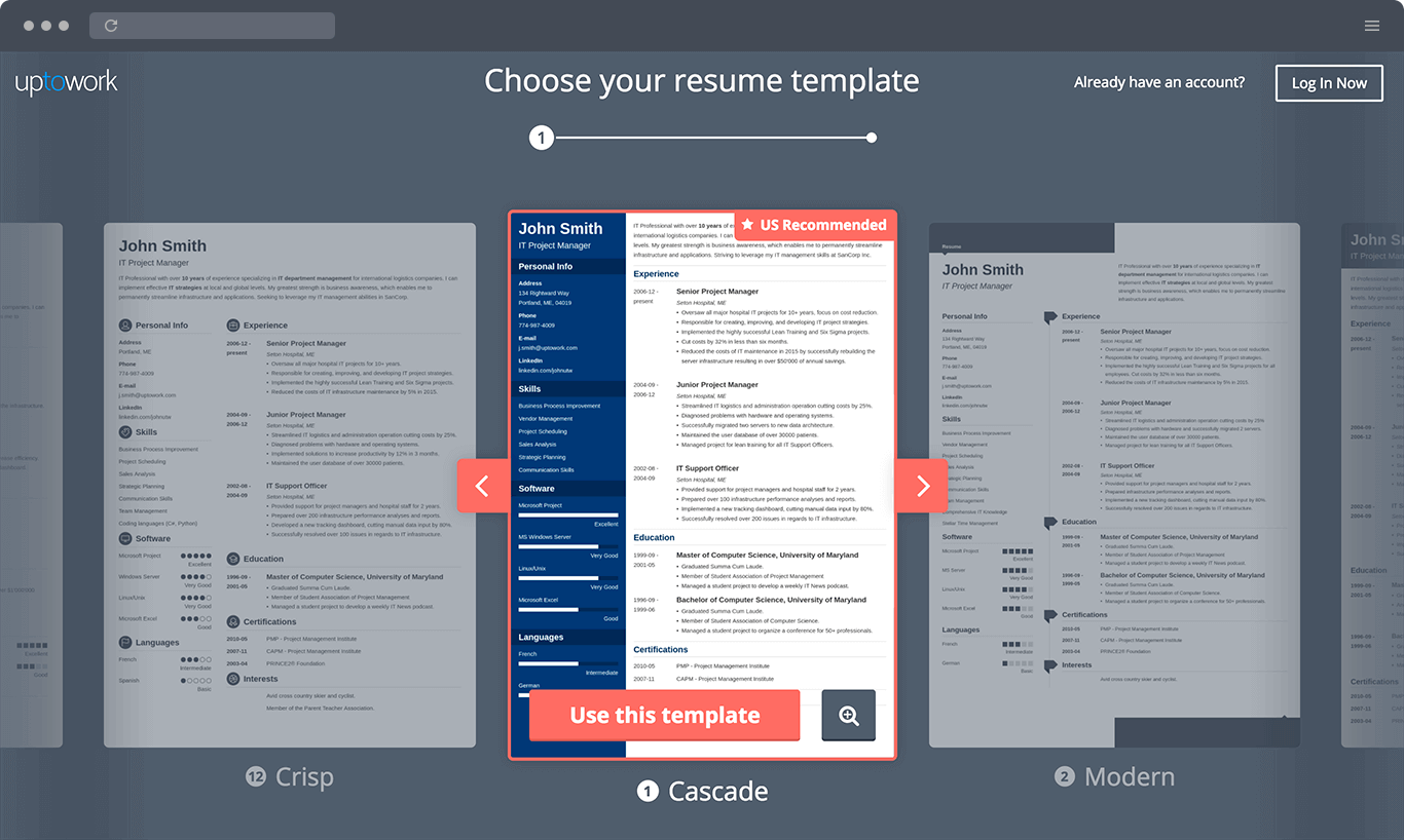 Resume Builder Online  Your Resume Ready in 5 Minutes  Professional CV Templates