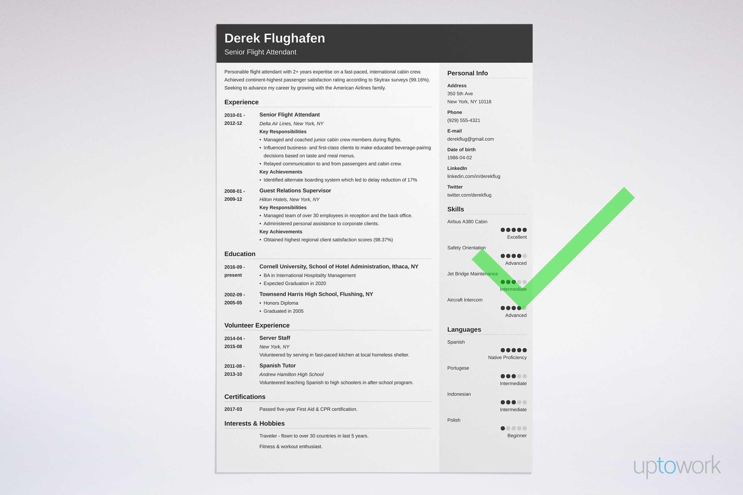 Advertisement sample resume skills for ojt tourism