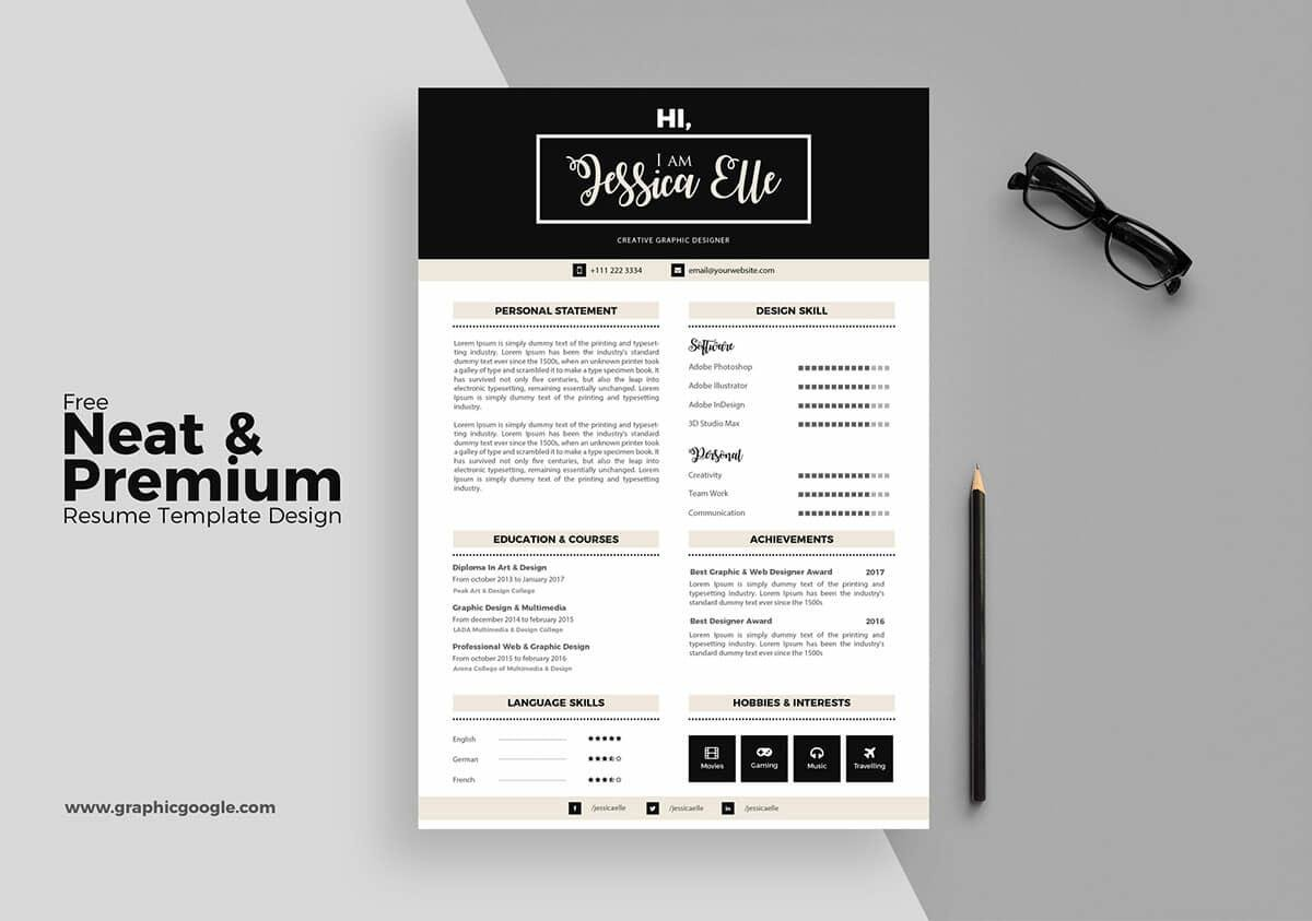 Free Resume Templates  17 Downloadable Resume Templates to Use downloadable free resume with elegant layout