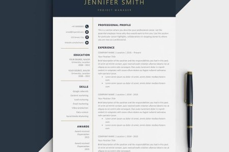 One Page Resume Templates  15 Examples to Download and Use Now elegant one page resume template word example