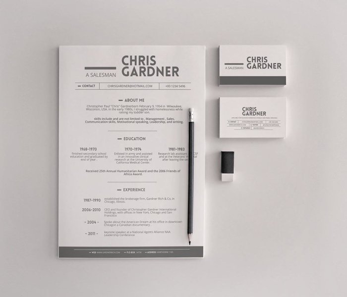 Simple Resume Templates  15 Examples to Download   Use Now  simple free resume template with business cards