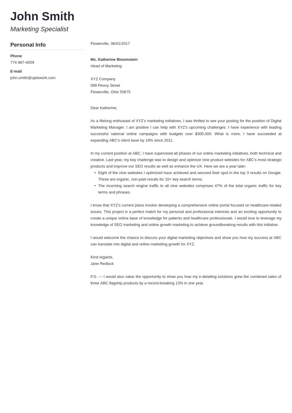 Cover Medical Telemetry Letter