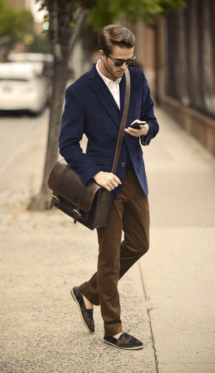 Mens Vintage Leather Duffle Bag