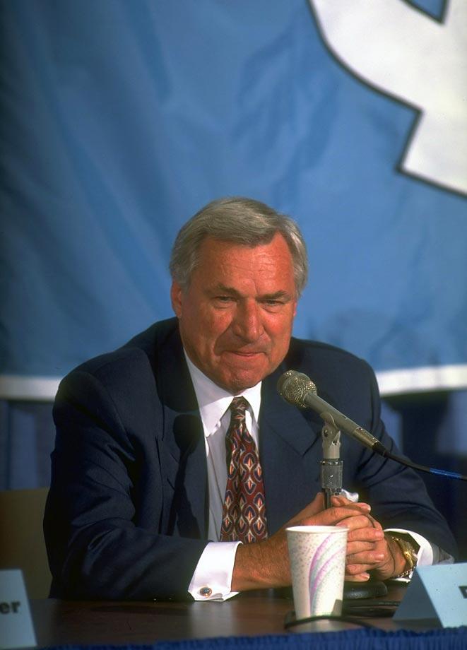 Dean Smith, legendary North Carolina basketball coach ...