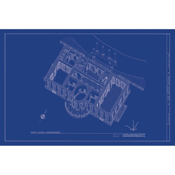 Old Blueprints   Iconic Architectural Moments   Touch of Modern White House Axonometric