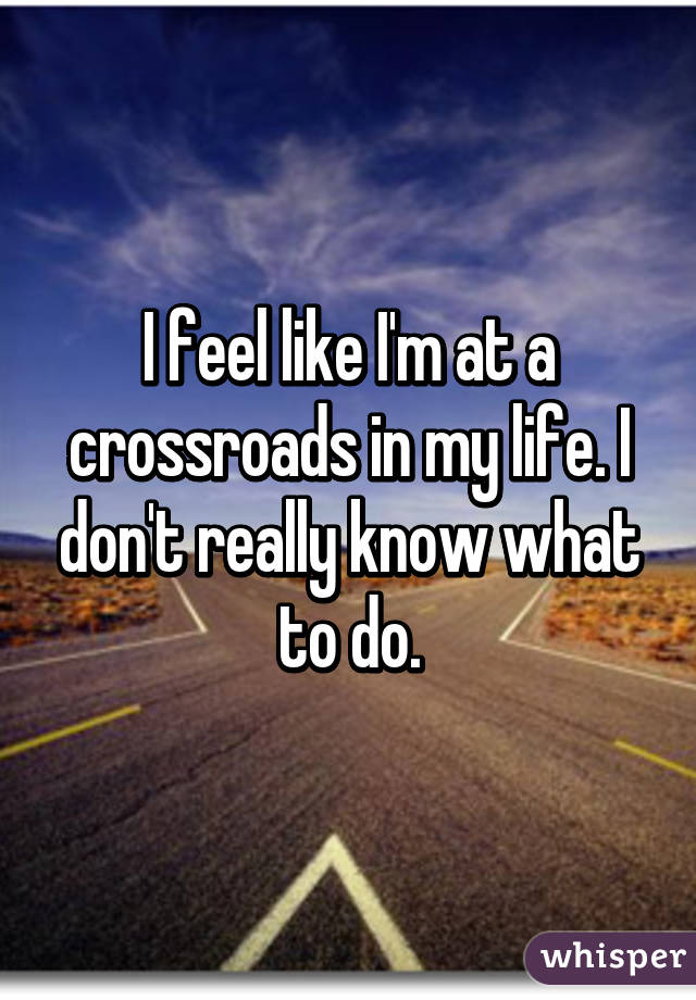 Crossroads My Life