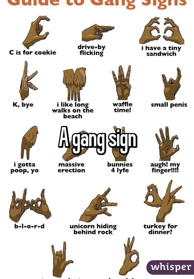 East Coast Blood Gang Signs