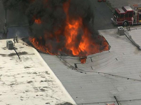 Firefighters Battling Huge Warehouse Fire In South Houston