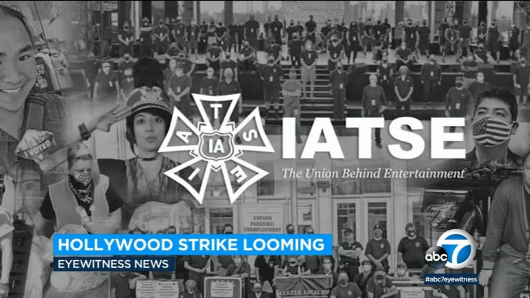 Watch Hollywood: Strike deadline looms for 60,000 behind-the-scenes movie and TV staff – ABC7 Los Angeles News