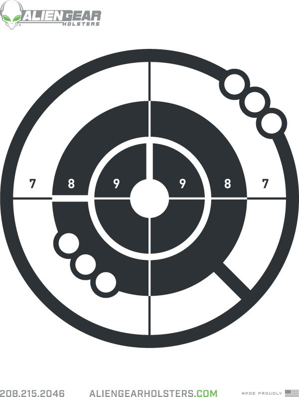 free printable shooting target # 10