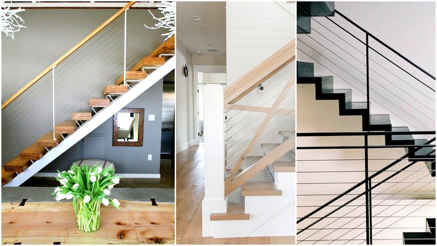 What You Need To Know And How To Use Cable Railings In Your   Diy Glass Stair Railing   Cable Railing   Modern Stair Parts   Floating Staircase   Railing Ideas   Wood