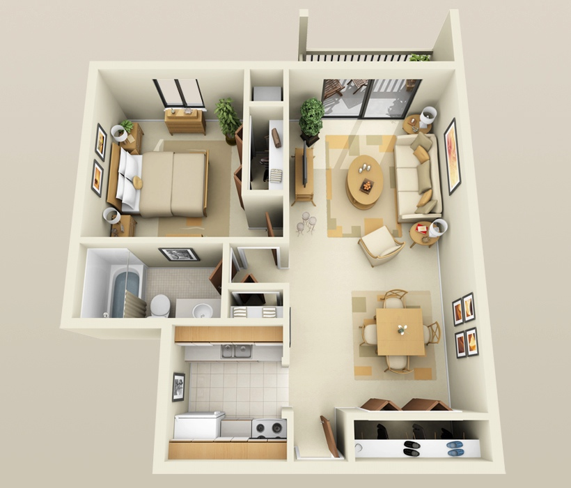 Simple Apartment Design