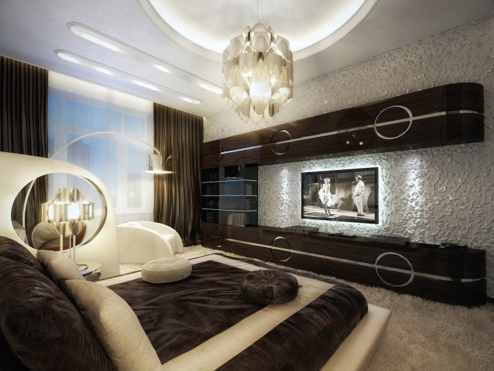 Eye Catching Bedroom Ceiling Designs That Will Make You Say Wow     1 brown elegant bedroom luxury smart contemporary interior