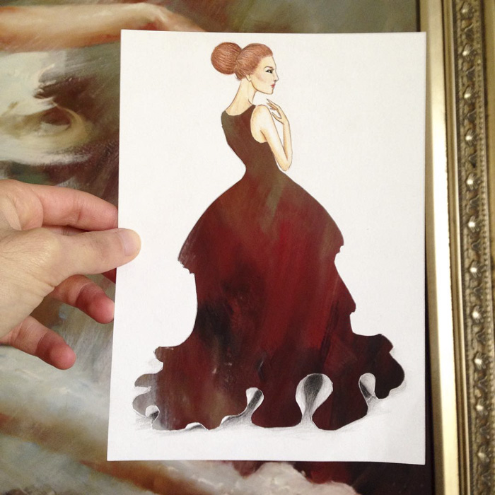 Armenian Illustrator Completes His Cut Out Dresses With