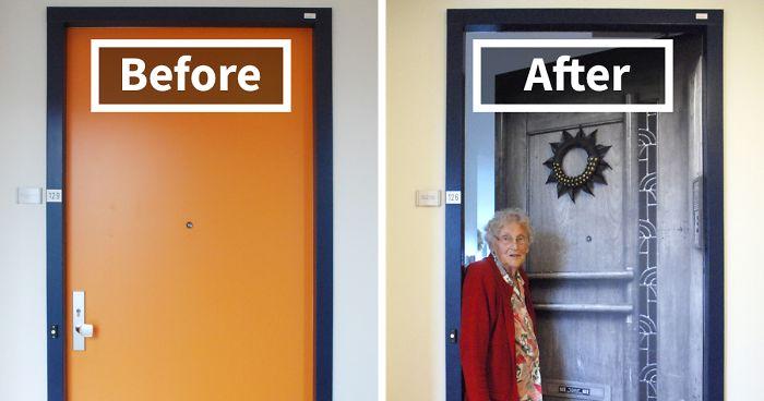 Company Recreates Doors Of Dementia Patients Houses To