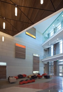 Wealth of Health at New Chickasaw Medical Center   Archpaper com The interior of the new Chickasaw Hospital is designed around a  town  center  with lobbies and waiting areas  Warm ipe wood forms the floating  ceiling