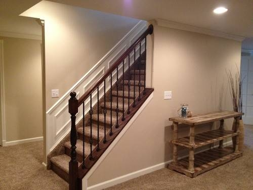 Cool Home Depot Stair Railing Stain Color Barb Homes   Banister Railing Home Depot   3 Step   Build In   Entry   Beginner   Round
