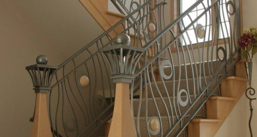 21 Inspiring Iron Staircase Railing Designs Photo Barb Homes | Home Stair Railing Design | Grill | Living Room | Inside | Small House | Outside Staircase Grill