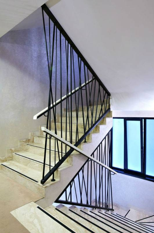 Modern Stair Railing Design Ideas Barb Homes   Modern Stair Railings Interior   Brushed Nickel   Outdoor Stair   Wrought Iron   Balcony   Wall Mounted