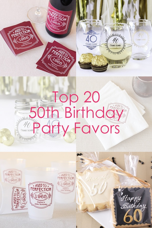 Top 20 50th Birthday Party Favors Beau Coup