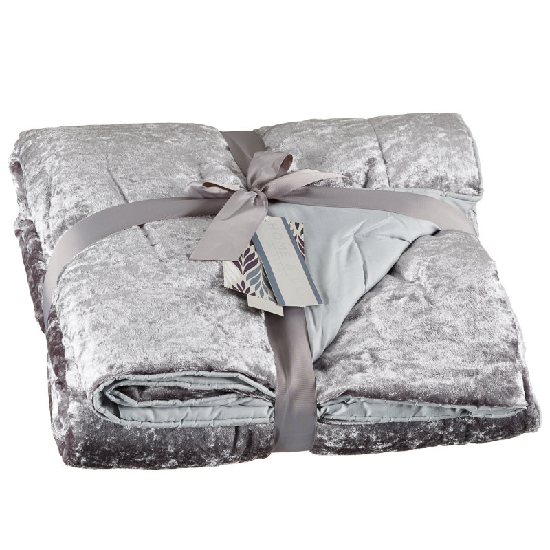 Crushed Velvet Throw Throws Amp Blankets Home