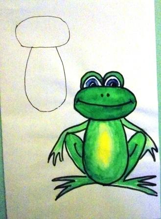Scene drawing flyushkonka.