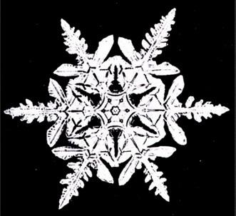 Płatek śniegu z serwetek