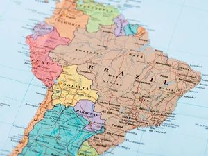 What Is the Difference Between South America and Latin America     South America map